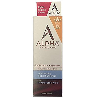 Alpha Skin Care (Alpha hydrox) Moisturizing Facial Sunscreen SPF 30, 3 oz.