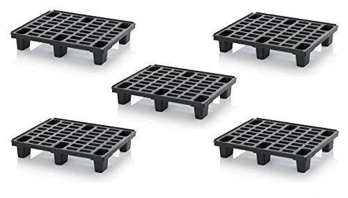 5x Leichtpalette 80x60 Kunststoffpalette im 1/2-Europaletten Maß inkl. gratis Zollstock * Halbe Palette, 5er Set