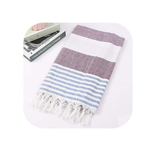 Instant Cooling Relief Towel Toallas De Baño De Borla Turca para Adultos Hilo De Toalla De Playa Grande 100% Toallas De Algodón 100 * 180 Cm Summer Stripes Toalla De Enfriamiento D