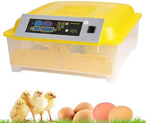 ZJWN Incubadora, Automáticos Incubatores Digitales con Giro automático de Huevos Control automático de Temperatura y Humedad, para Pollos, Patos, Gansos en casa,Yellow_48 Eggs