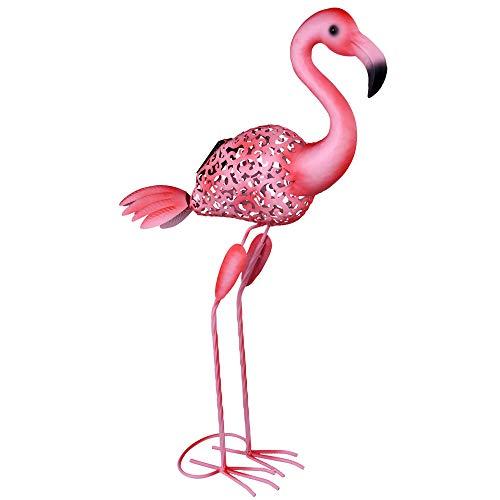 LED Außen Solar Steh Lampe Stand Deko Flamingo Vogel Grundstück Beet Lampe pink Globo 33202