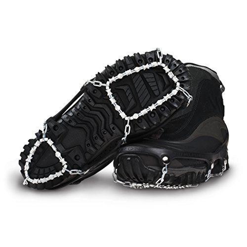 ICEtrekkers Diamond Grip Traction Cleats, X-Large (Men's 13), Black