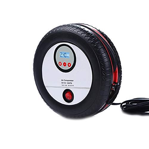 CWWHY Pompe portative de compresseur d'air, Pompe à air de Voiture Double Cylindre ménage 12V Pompe électrique Pneu d'urgence Voiture Pompe Affichage numérique