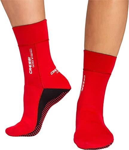 Ultra Stretch Neoprene Socks 1.5mm - Escarpines Neopreno Ultrastretch, Unisex-Adult Rojo , M