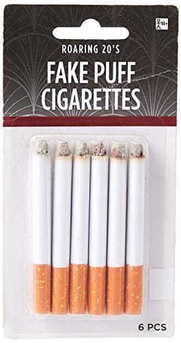 Amscan Fake Puff Cigarettes One Size, White