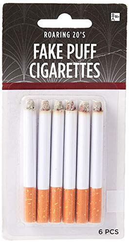 Amscan Fake Puff Cigarettes One Size, White