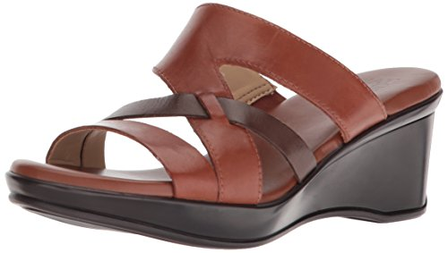 Naturalizer Women's VIVY Wedge Sandal, Brown, 8.5 N US