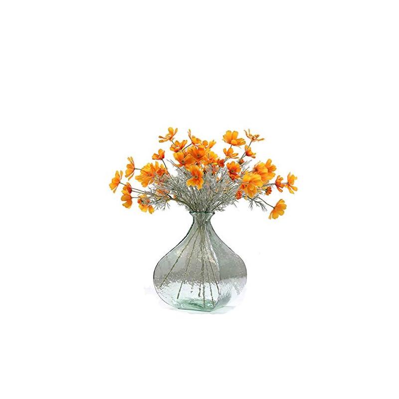 silk flower arrangements artfen 6 pack artificial calliopsis flowers fake silk flower table kitchen home garden party wedding decoration approx 24'' high