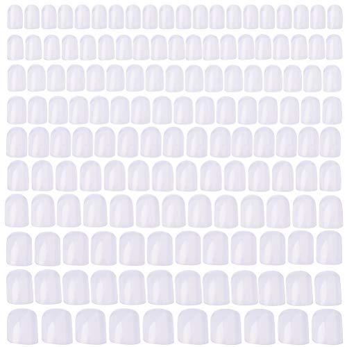 Pimoys 500 Pcs Short Nails Clear, 10 Size Short Square Nails Full Cover Artificial Acrylic Fake False Nails for Women Girls Nail Art Design DIY Nail Salons