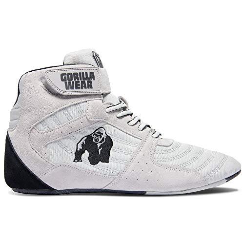 GORILLA WEAR Fitness Schuhe Herren - Perry High Tops - Bodybuilding Gym Sportschuhe White 44 EU