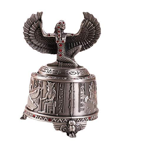 AIJOAN-BJ Skulptur Tier Tierfiguren & Tierstatuen Metall Retro Spieluhr Ägyptischen Sonnengott Drehbare Musik Tasse Dekoration Dekoration Geschenk