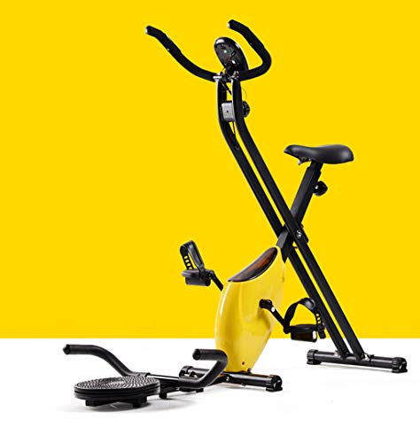 Fantastic Prices! BAOYUAN Folding Exercise Bike, Fitness Bicycle with Disc for Exercising Waist, Mag...