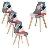 GrandCA HOME Lot de 4 chaises de Salle à Manger, Chaise de Style scandinave,...