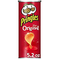 Pringles The Original Potato Crisps - Game Day Party Food, Perfectly Seasoned Salty Snack (5.2 oz Ca