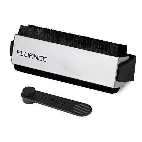 Fluance Vinyl Record & Stylus Cleaning Kit with 2-in-1 Anti-Static Carbon Fiber & Soft Velvet LP Brush and Stylus Brush (VB52)