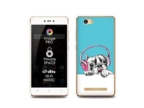etuo Handyhülle für Allview X3 Soul Lite - Hülle, Silikon, Gummi Schutzhülle Fantastic Case - H& mit Kopfhörern