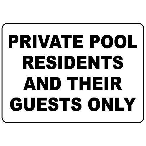 Modtory privé zwembad bewoners en hun gasten alleen aluminium metalen bord 8x12 inch