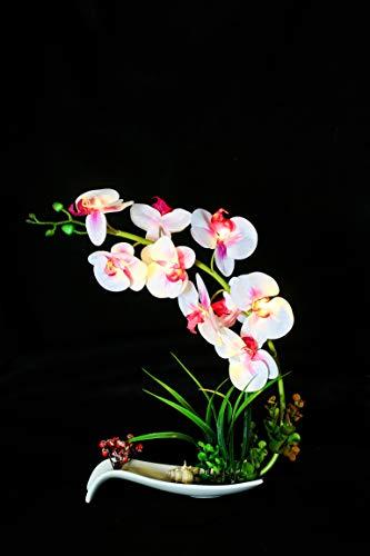 FLCSIed Künstliche Orchidee Blumentopf...