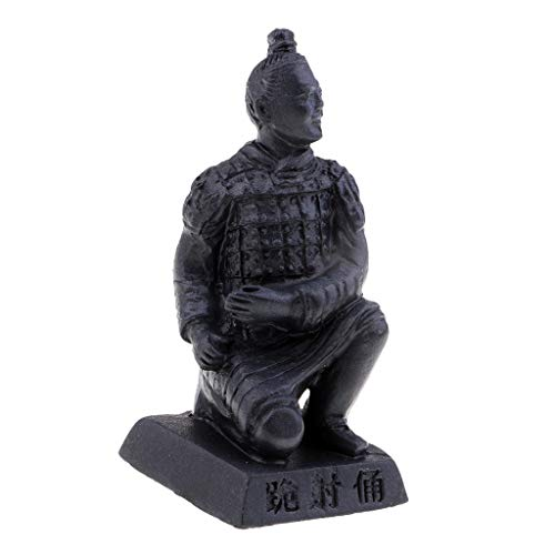 F Fityle Chinois Qin Cotta Warriors Cheval Figurine Oeuvre Ornement