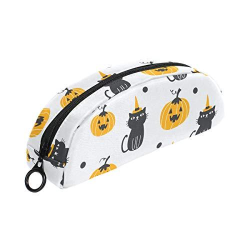 Federmäppchen mit Halloween-Kürbis-Katze und Reißverschluss, kleine Make-up-Tasche für Kinder, Jungen, Teenager, Mädchen, Schule, Schreibwaren