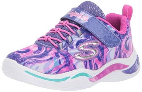 Skechers Kids Girls' Power Petals-FLOWERSPARK Sneaker, Purple/Multi, 12 Medium US Little Kid
