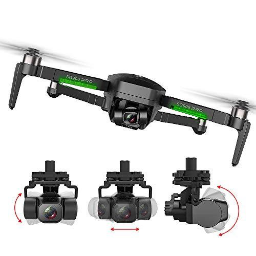 GoolRC Beast SG906 Pro 2 GPS RC Drone con Cámara 4K Cardán de 3 Ejes Motor sin Escobillas 5G WiFi FPV Posicionamiento de Flujo óptico Cuadricóptero 1200m Distancia de Control con Bolsa 3 batería