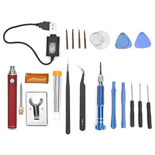 Soldador Recargable 5V Carga USB Soldador Eléctrico Conjunto de Hierro Pluma de...