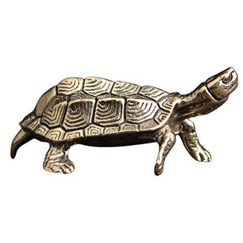 FAVOMOTO Encanto de Tortuga de Bronce Antiguo Colgante de Tortuga Vintage de Latón Micro Ornamento de Paisaje Buena Suerte Accesorios de Llave de Coche para Hacer Joyas