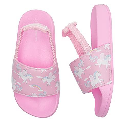 Ciabatte Bambina Pantofole Bambina Estive Sandali Piscina Bambina Ciabatte da Spiaggia Bambino Ciabatte Mare Unisex Bimbo(PinkH Unicorno, 22/23EU)
