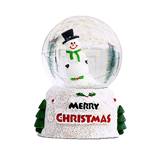 BEIEN Weihnachts Schneekugel, Leuchtender Weihnachtsmann Schneekugel, 2.76x2x2 Zoll Süße Kristallglaskugel Desktop Dekoration, Weihnachts Neujahrsgeschenk für Jungen und Mädchen