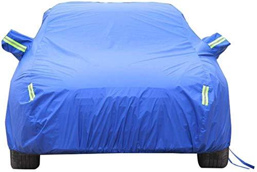 WWANG Car-Cover Kompatibel mit Mitsubishi Car Cover Car Kleidung Dick Oxford Cloth Sonnenschutz Regen-Abdeckung Auto-Cloth Car Cover Car Cover (Color : Blue, Size : One Size)