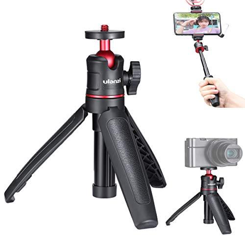 """HAFOKO MT-08 Mini Desktop Stativ Vlogging Erweiterung Selfie Stick Handgriff mit flexiblem 360 ° Kugelkopf 1/4 """"Schraubgriff Kompatibel mit Smartphone DSLR-Kamera YouTube Vlog (Unterstützung 1,5 kg)"""