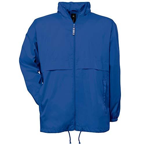 B&C -Chaqueta ligera, cortavientos, impermeable y repelente al agua para hombre (S/Azul...