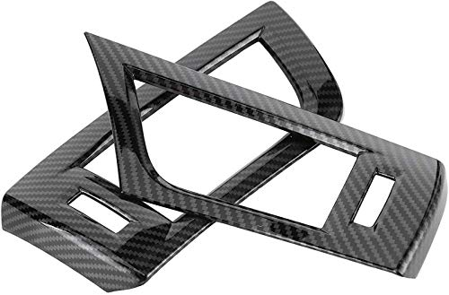 『Alphard 2016□201 2PCSフロントサイドエアベントアウトレットトリムカーボンファイバースタイルインテリアの装飾』の3枚目の画像