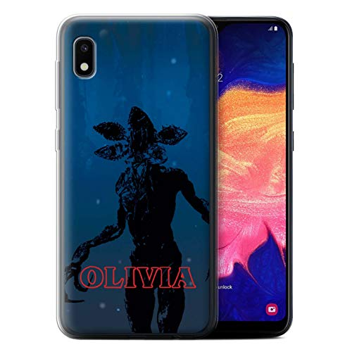 Personalized Custom Strange Retro Gel/TPU Case for Samsung Galaxy A10e (2019) / Demogorgon Monster Design/Initial/Name/Text DIY Cover