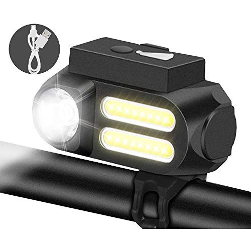 QIYA USB Recargable Impermeable Bicicleta Bicicleta De Montaña Luz Delantero Luz De Advertencia Luz Noche Montando Cola Luz Fuerte Antorcha Luz Accesorios