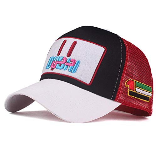JJZZ Baseball cap Sommer Frauen Mesh Dubai Baseball Kappe Stickerei Kappe Hut Für Männer Mädchen Hysterese Hut Hut Casual Kappe Dad Hut,L Gray Black r