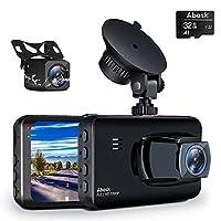 【Dual FHD 1080P und Super Nachtsicht】Der Dual Dashcam kann 1080 Full HD Video und Audio vor und nach dem Auto gleichzeitig aufnehmen. Mit dem fortschrittlichen optischen Sensoren, WDR-Technologie und Nachtsichtfunktionen kann dashcam auto vorne hinte...