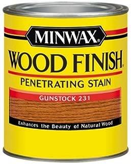 Minwax 700454444 Wood Finish Penetrating  Stain, quart, Gunstock