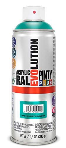 PINTYPLUS EVOLUTION 554 Pintura spray Acrílica Brillo 520cc Mint turquoise Ral 6033, Estándar