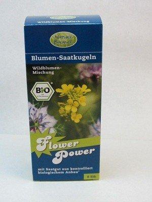 8 Saatkugeln Biosamenbomben Samenbomben für Guerilla Gardening Blumensaatkugeln - Kräutermischung