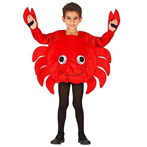 WID Costume Carnevale Granchio Travestimento per Festa PS 35588 (2/3 Anni - 104 CM)