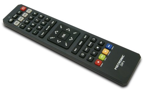 Metronic 495392 ZAP4 - Mando a distancia universal para TV, TDT, DVD y AUX, negro
