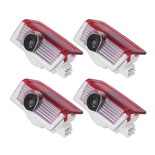 Luces de bienvenida de la puerta del automóvil - Vobor 4Pcs Cortina de la puerta del automóvil Proyector de luz LED Sombra Compatible con Mer-ce-des GLA