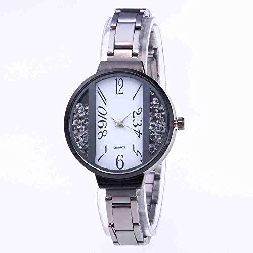 WMYATING Exquisito, Hermoso, decente, novedoso y único. Relojes de Pulsera Nuevos Cien Set Women's Watch Personalidad Hueco Arena Fine Net Beld Casual Reloj de Cuarzo Mujer (Color : Black)