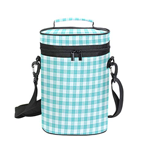 Turquoise Blue Wine Travel Carrier & Cooler Bag - Rillingen 2 flessen wijn of champagne