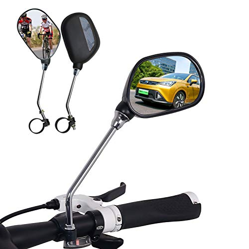 Bike MirrorAdjustable Rotatable Bicycle Rear View Glass MirrorHD MirrorSSuitable for Many Types of Bicycles