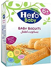 Hero Baby Biscuits for 6 Plus Months, 180g