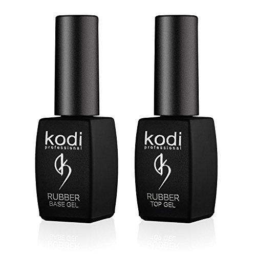 Kodi Professional Top & Base Coat Unterlack & Überlack Set 8ml | Einweichgel, Nagelpolitur-Set | Für langlebige Nägel | Einfach zu verwenden, ungiftig & geruchlos | Aushärtung unter LED oder UV-Lampe