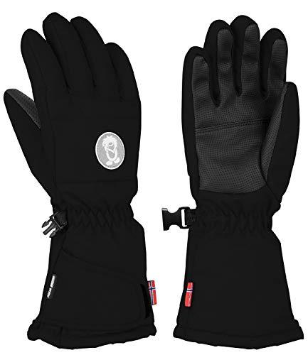 Trollkids Narvik Wasserabweisende Handschuhe, Schwarz, Größe 4,5; 7-8 Years